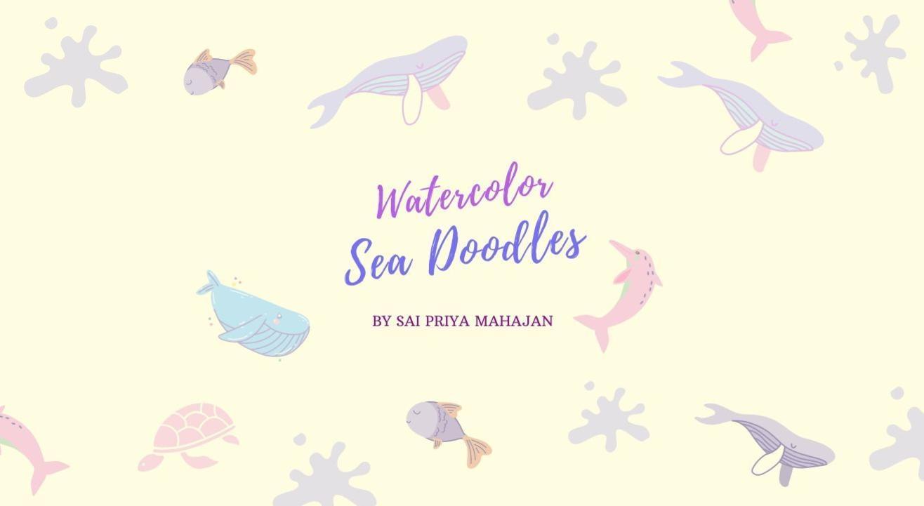 Watercolor Sea Doodles for Beginners