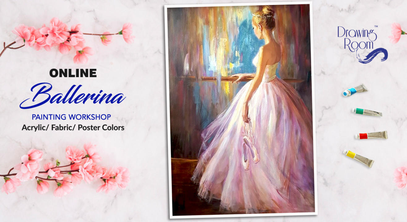 Online Ballerina Painting Workshop by Drawing Room
