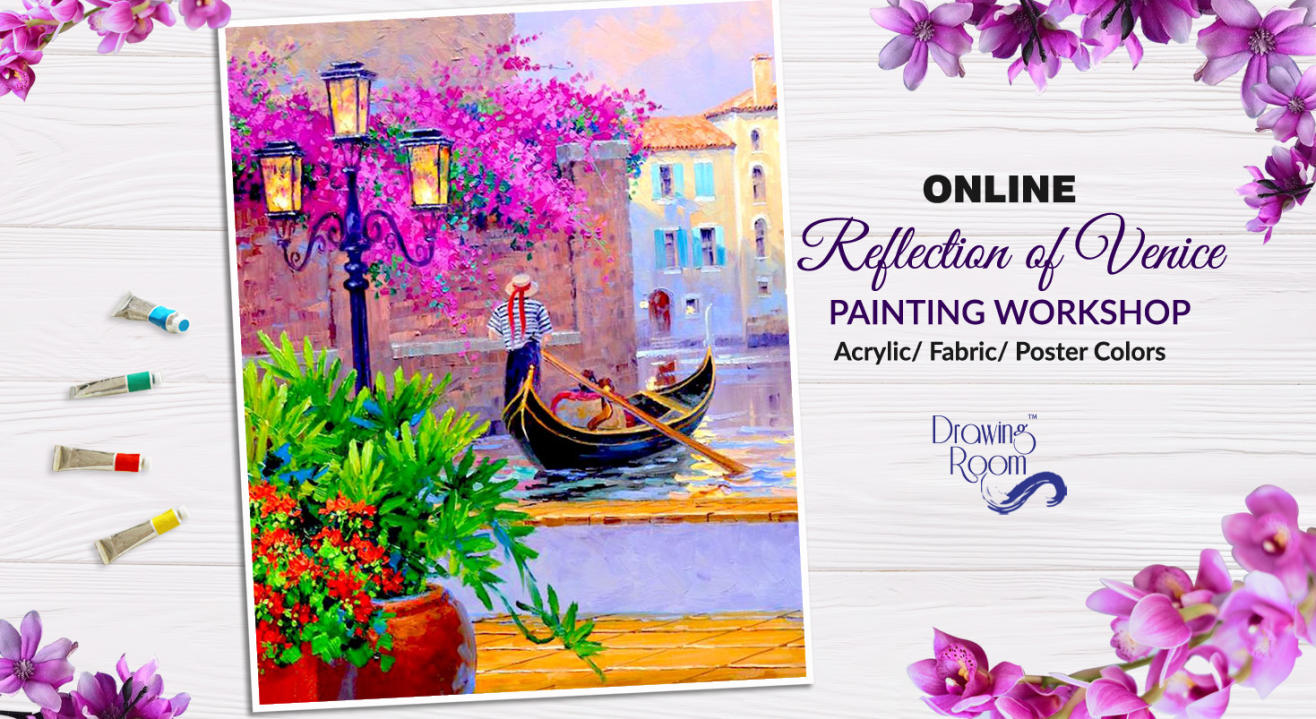 Online Reflection of Venice Painting Workshop by Drawing Room
