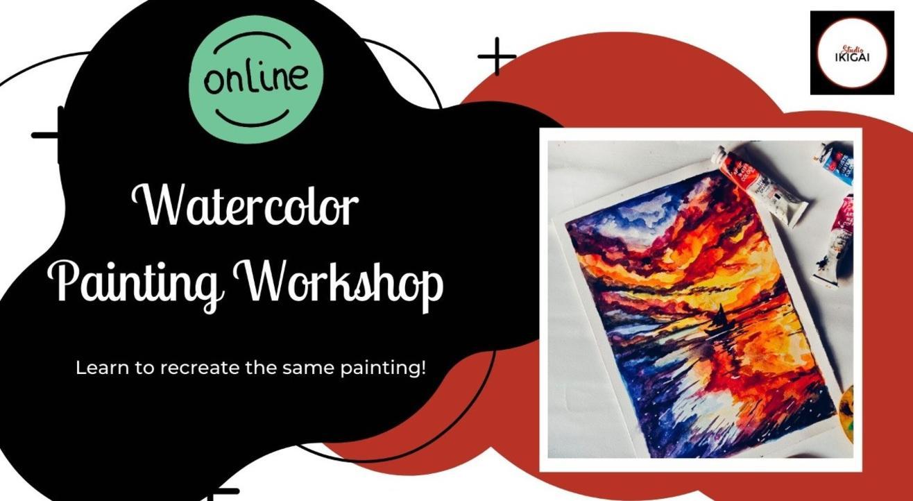 Online Watercolor Painting Workshop - Gold Expanse