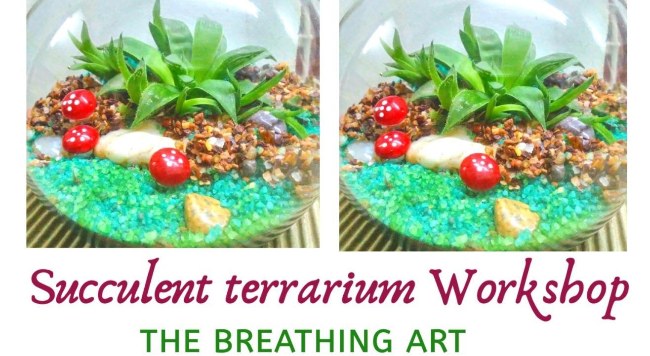 19th July Online Succulent Terrarium Workshop
