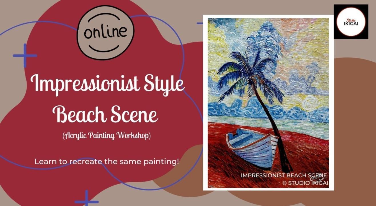 Online Acrylic Painting Workshop - Beach Scene