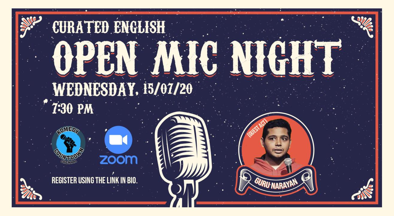 Curated English Open Mic Night