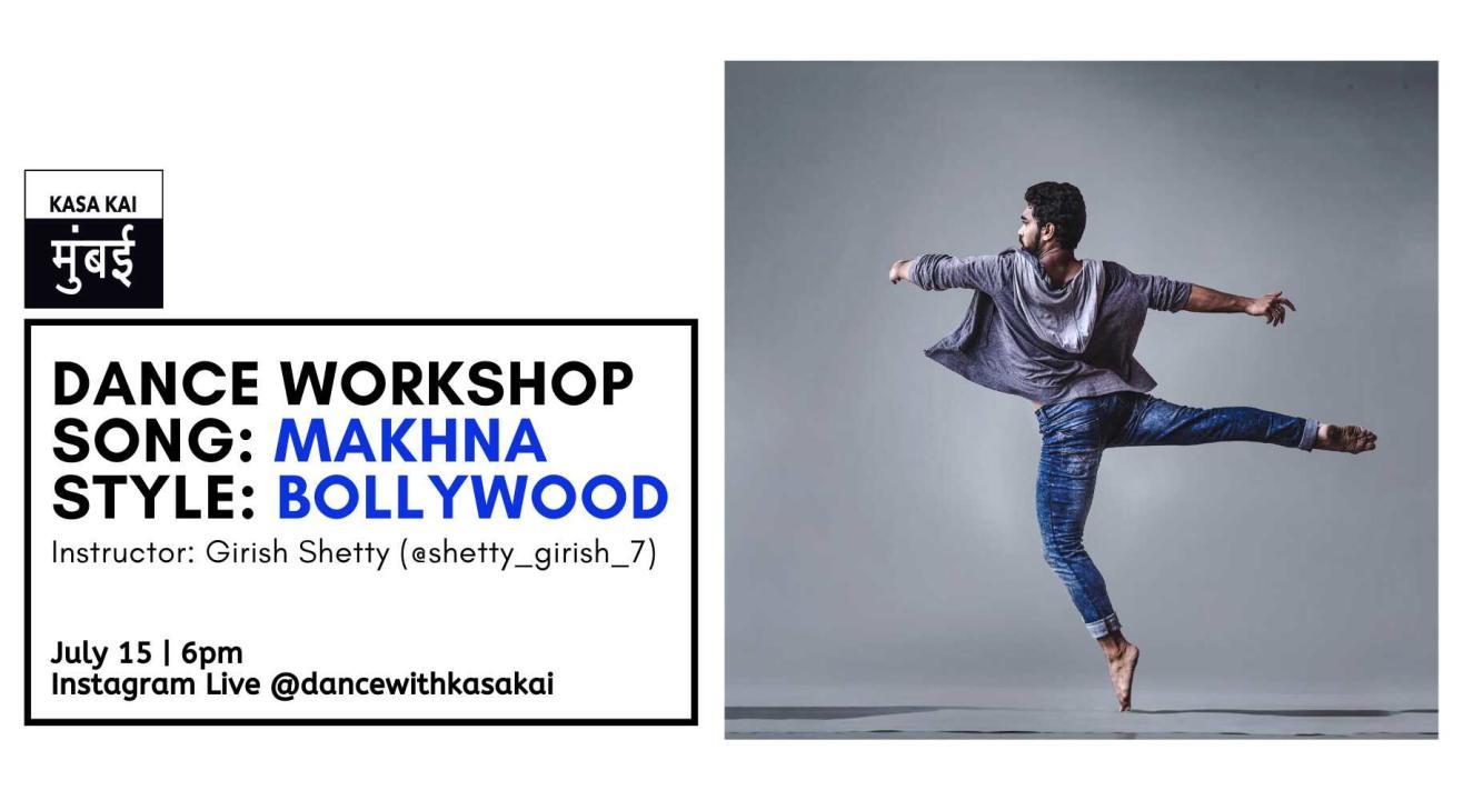 Dance workshop with kasa kai - Girish Shetty At Instagram Live
