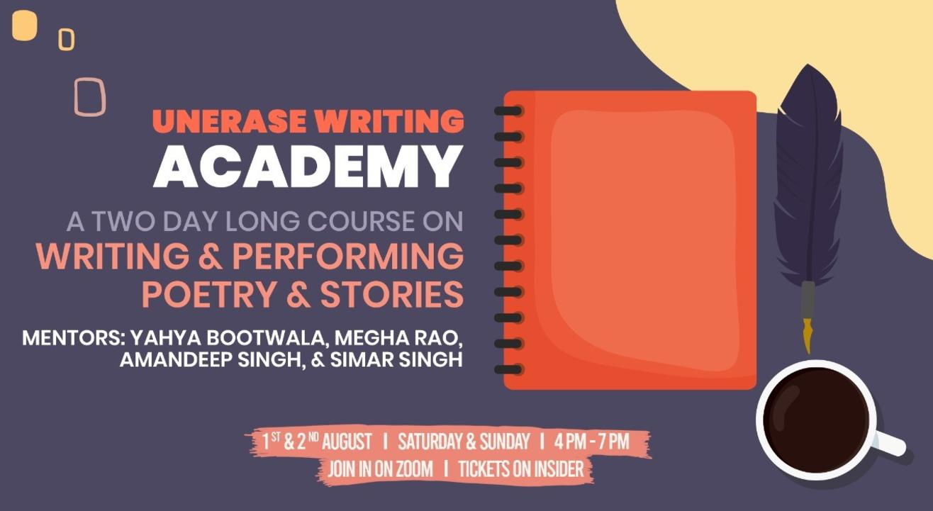 UnErase Writing Academy Masterclass - Batch 2!
