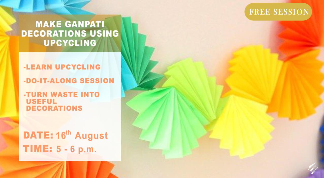 Make Ganpati Decorations using Upcycling