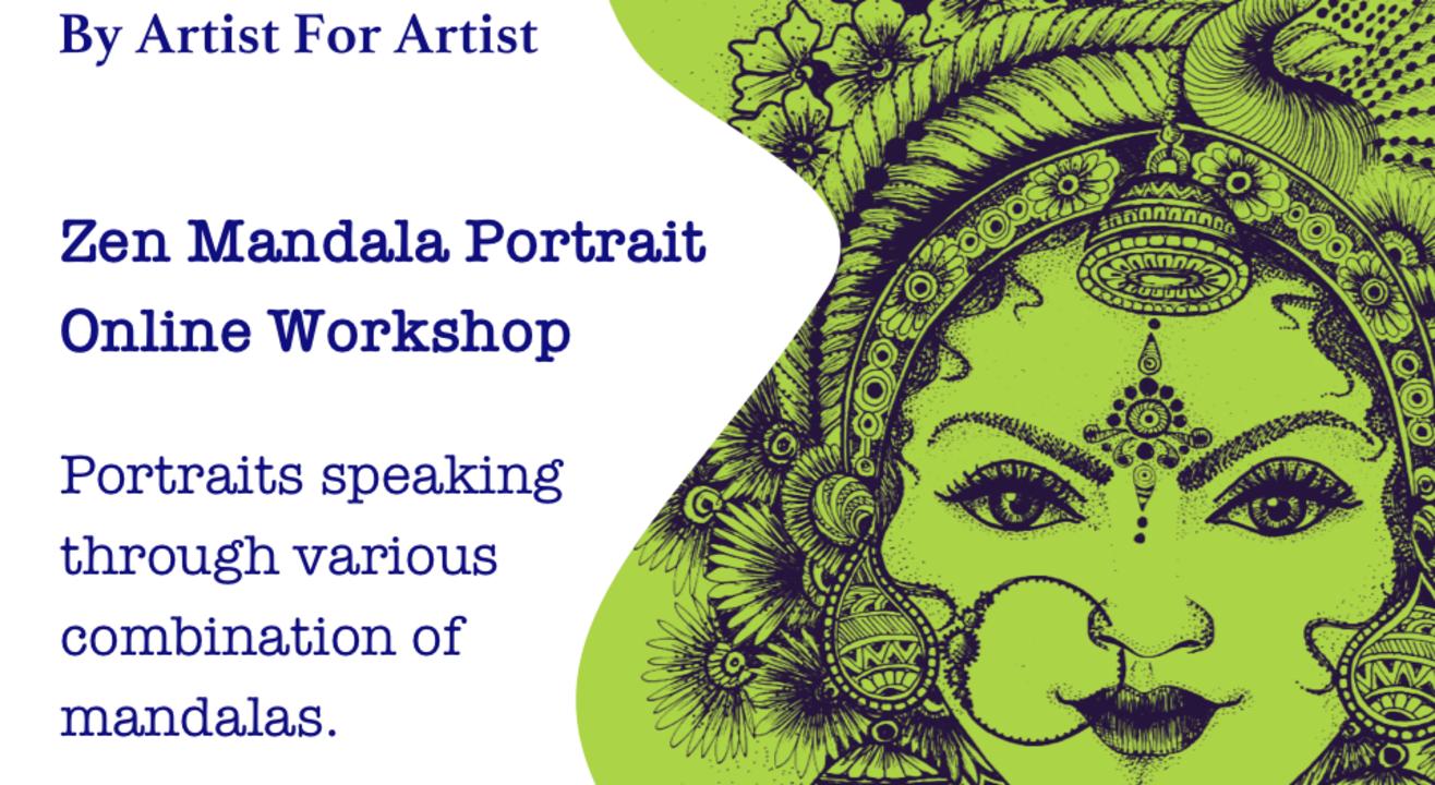 Zen Mandala Portrait Online Workshop with BAFA