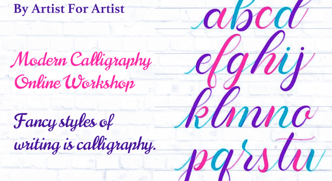 Modern calligraphy Online Workshop with BAFA