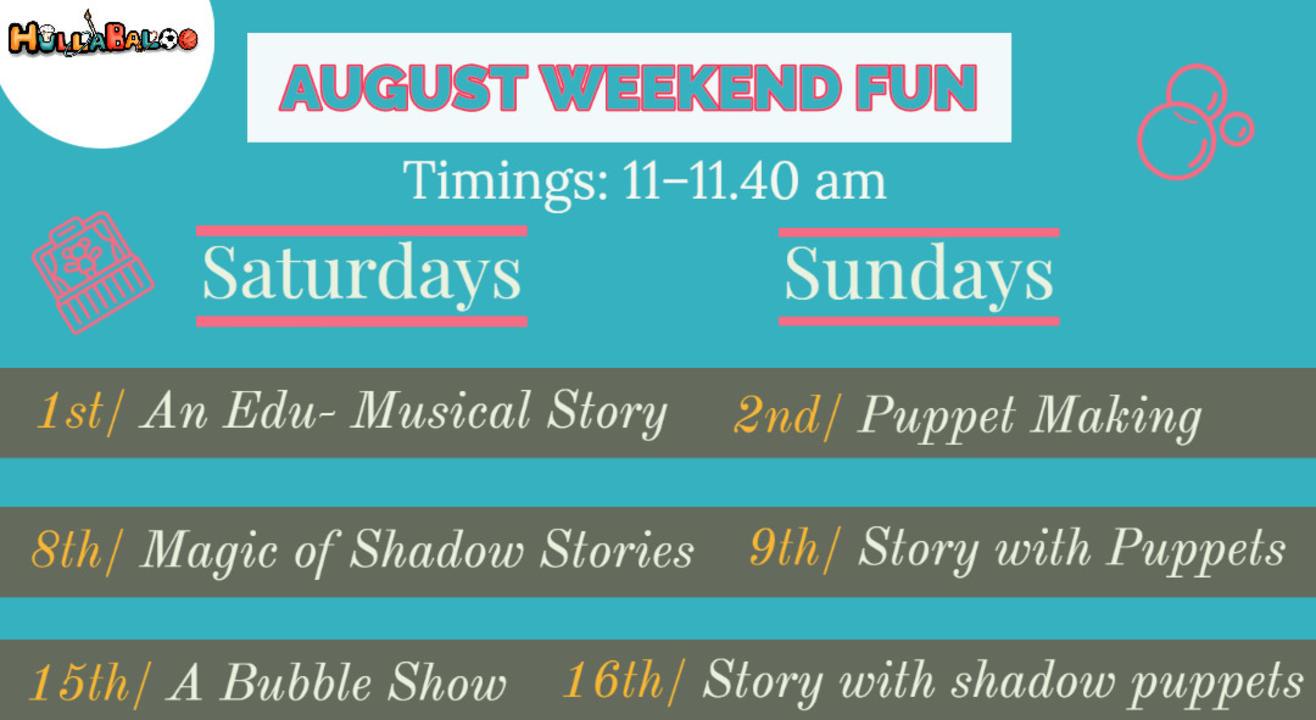 Hullabaloo August Fun Weekend Sessions
