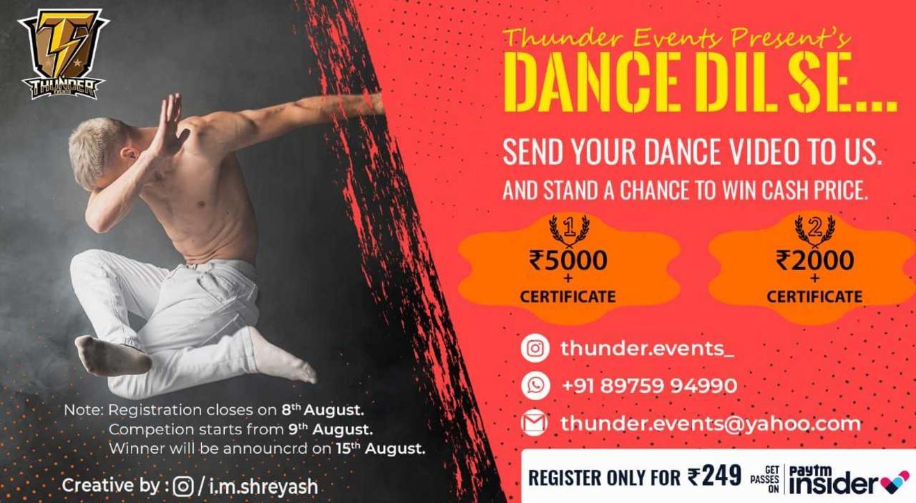 Dance Dil Se - Online Dance Competition
