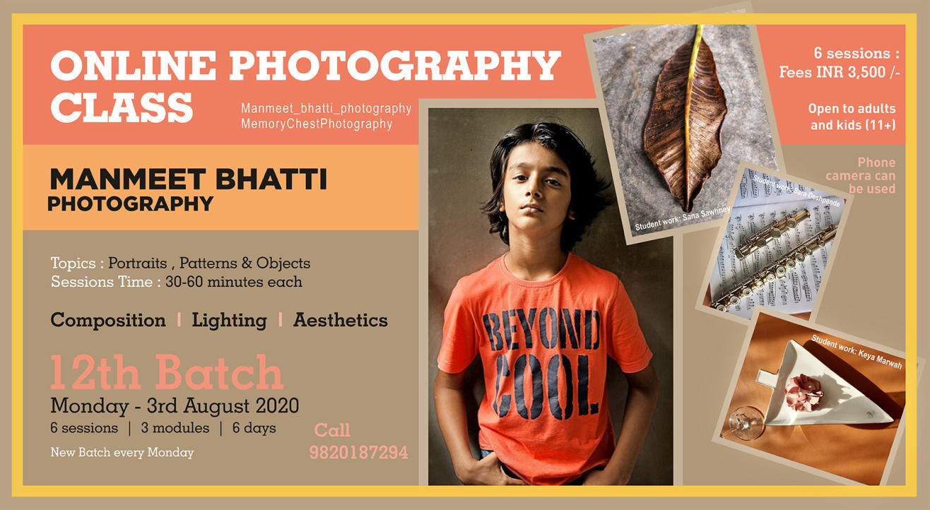 Online photography Class - How to take great pictures