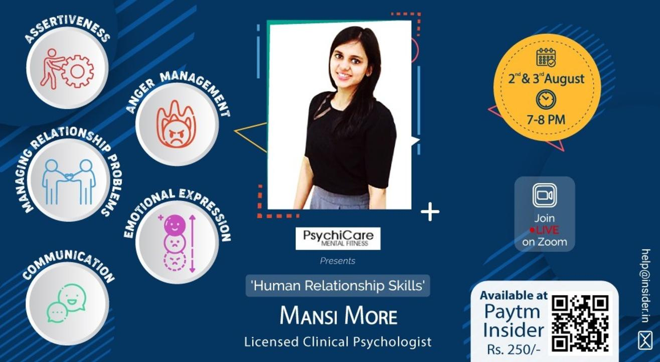 PsychiCare presents 'Human Relationship Skills'.