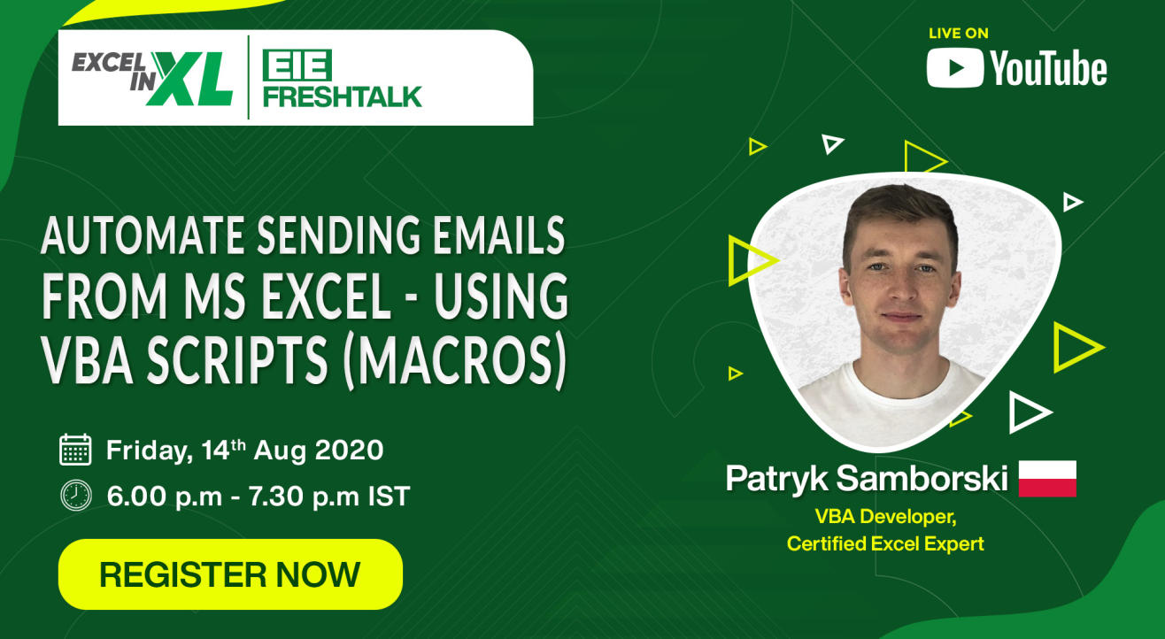 Automate Sending Emails from MS Excel - Using VBA Scripts (Macros) | #EiEFreshTalk by Excel in Excel