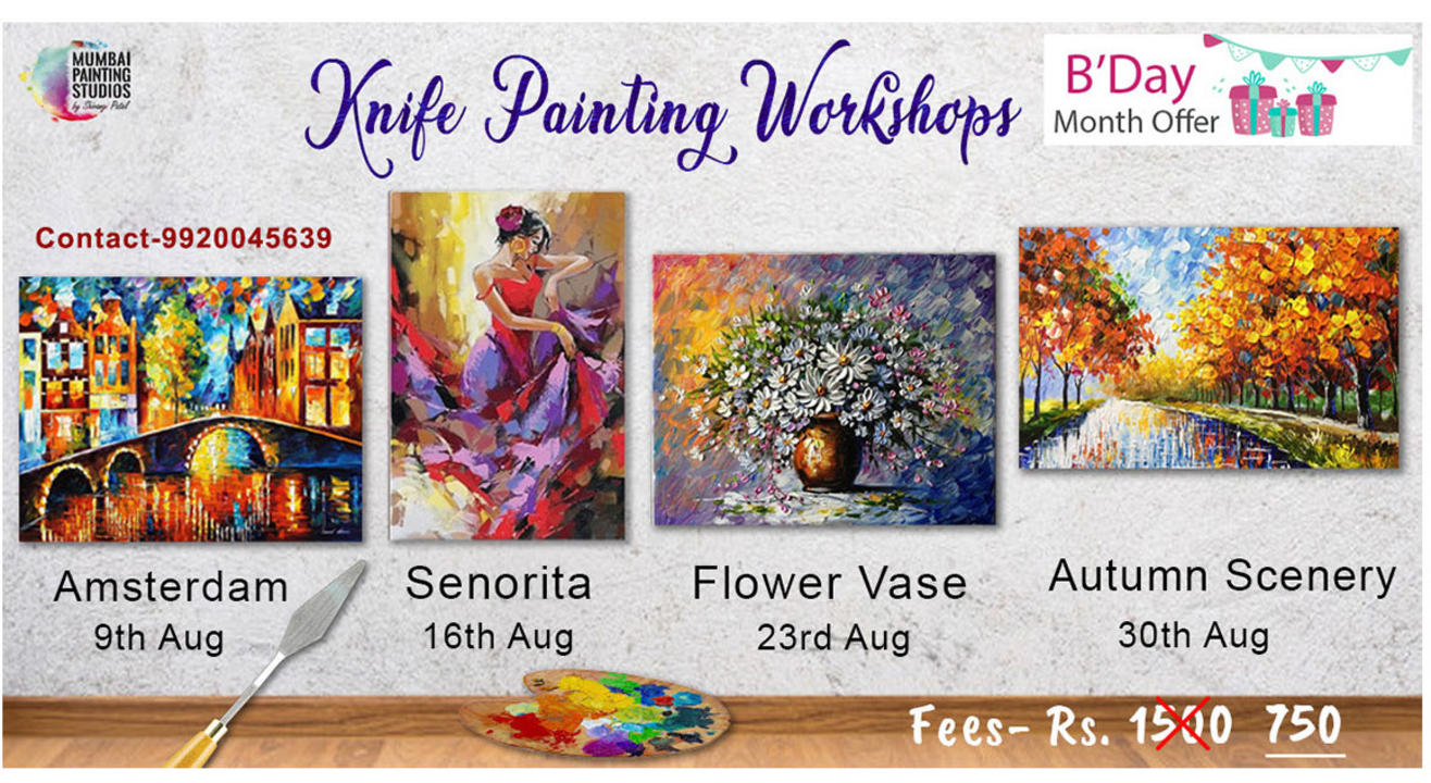 Online Knife Painting workshops (Special Birthday Month Offer)