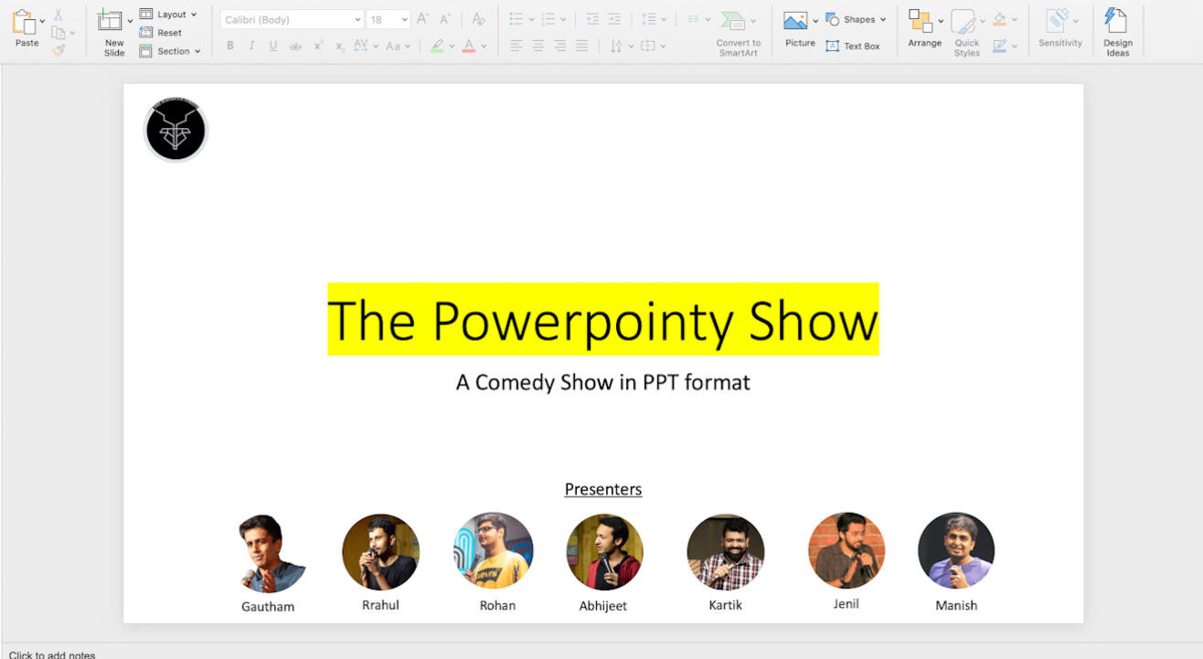 The Powerpointy Show | Comedy_Show.pptx