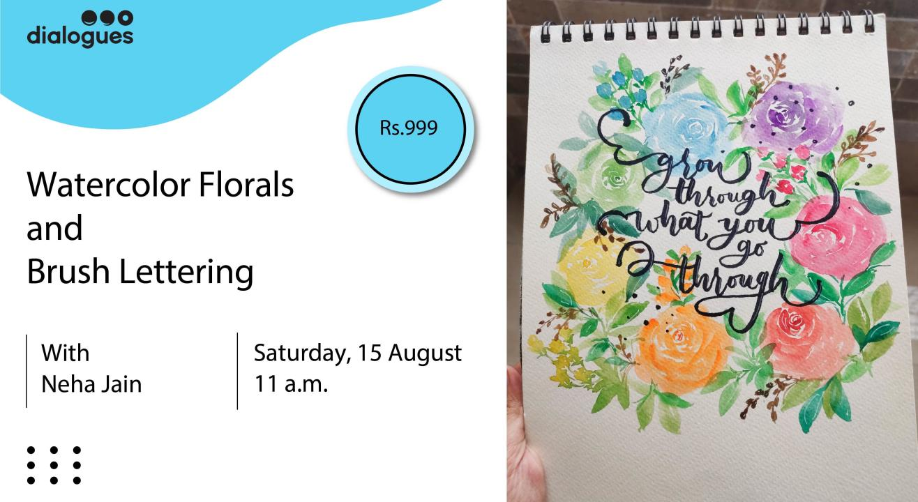 Watercolor Florals and Brush Lettering (2 Days)
