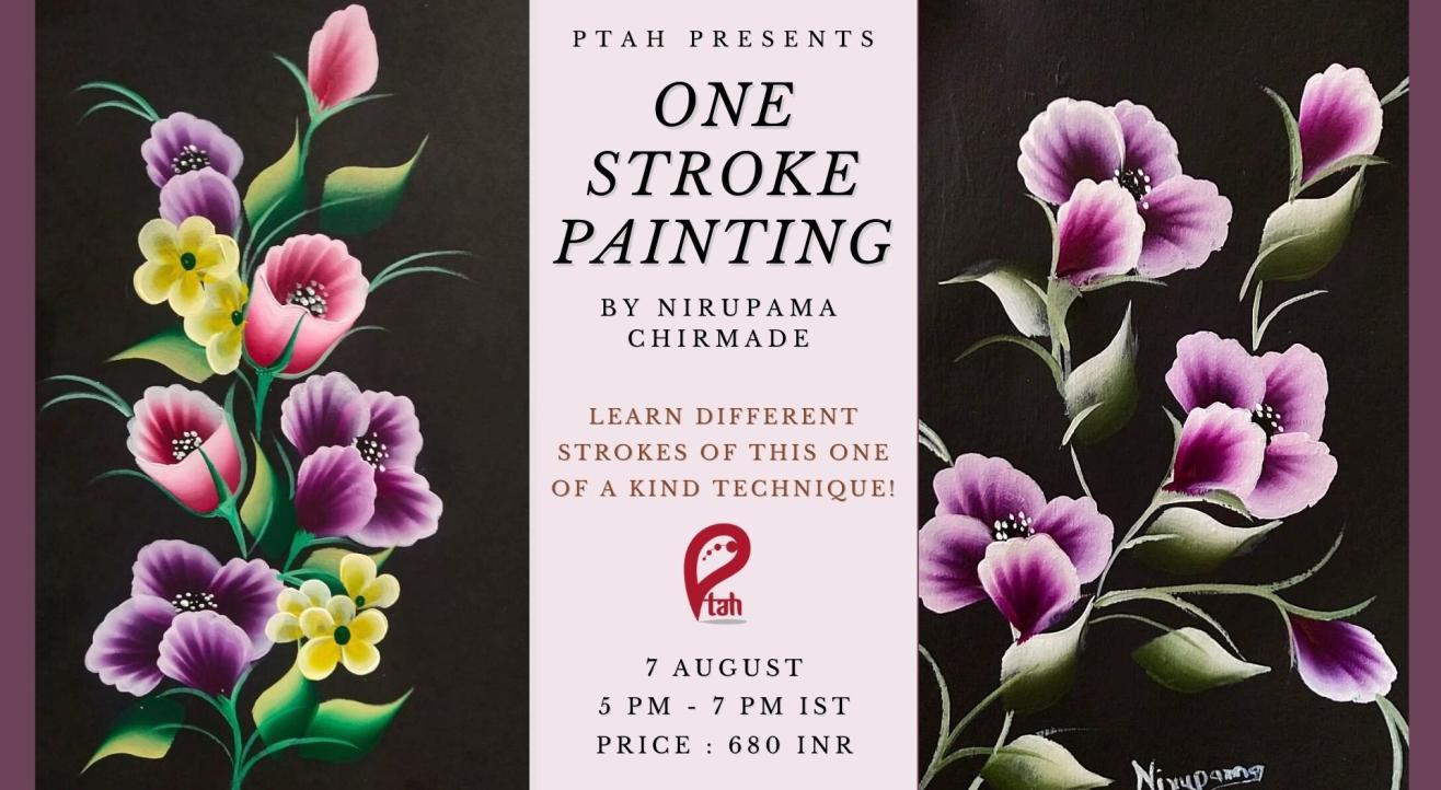 One Stroke Painting : Online Workshop