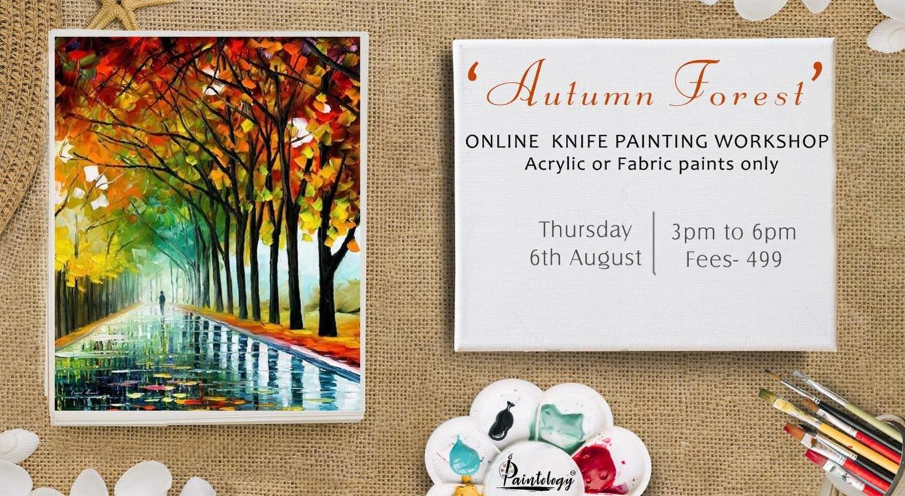 'Autumn Forest' Knife painting workshop by Paintology