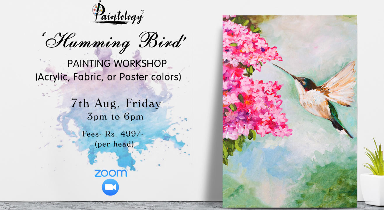 'Humming Bird' Painting workshop by Paintology