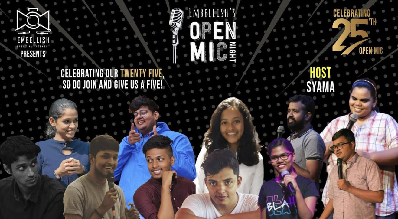 OPENMIC NIGHT by Embellish (Tanglish) | 25th Openmic celebration | Embellish events