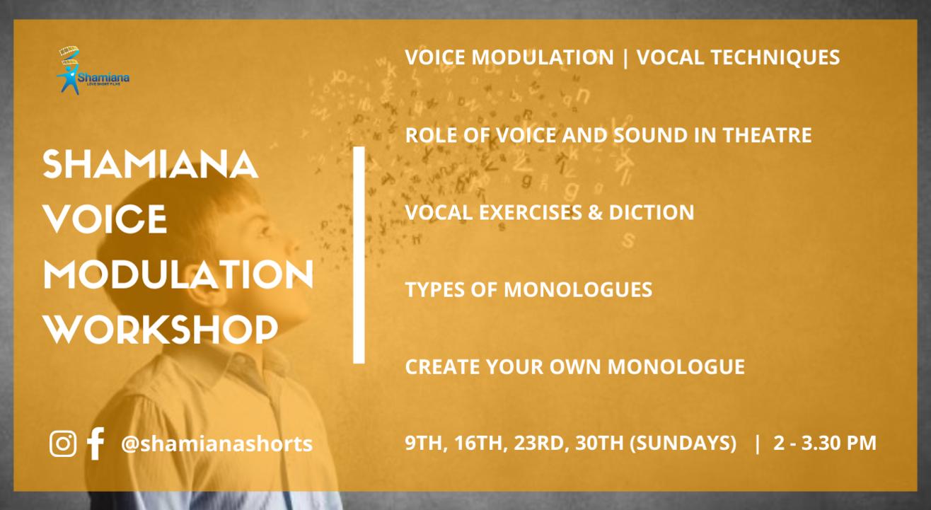 SHAMIANA'S Voice Modulation Workshop