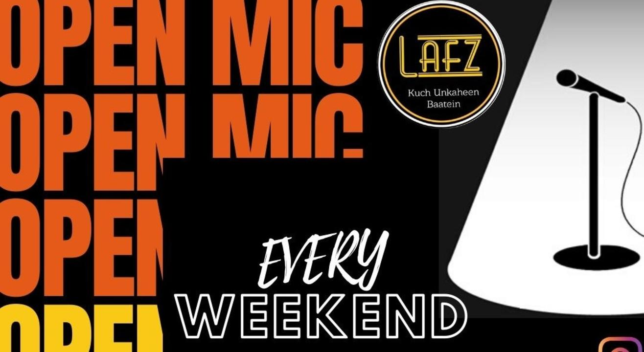 Open Mic I Poetry I Singing I Stand-up Comedy I I Lafz Entertainments