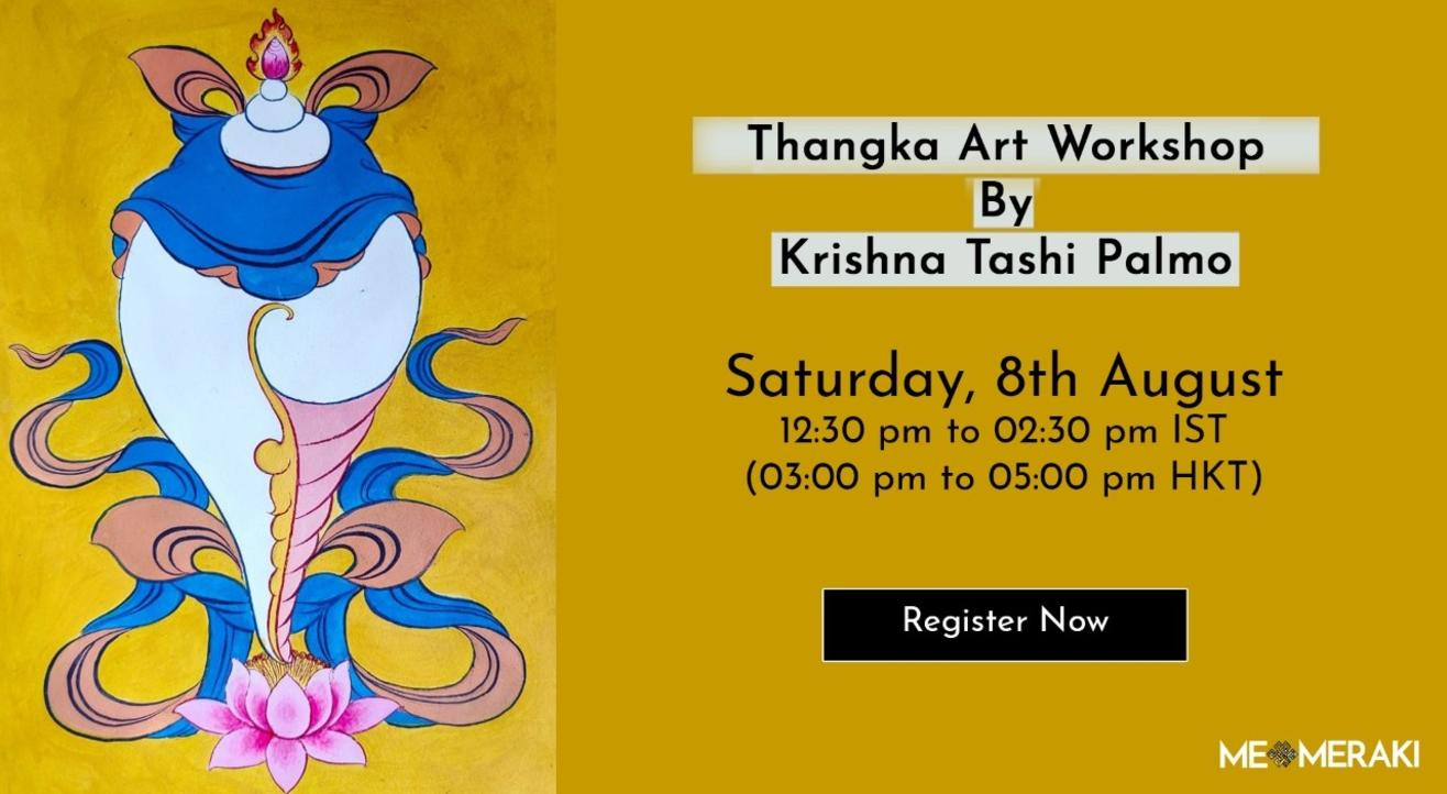 8TH AUGUST: ONLINE THANGKA ART WORKSHOP WITH KRISHNA TASHI PALMO