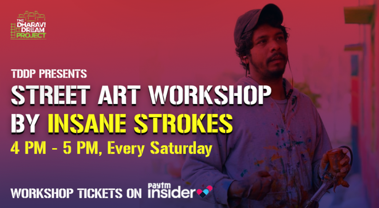 STREET ART workshop by INSANE STROKES at TDDP's Online AfterSchoolofHipHop!