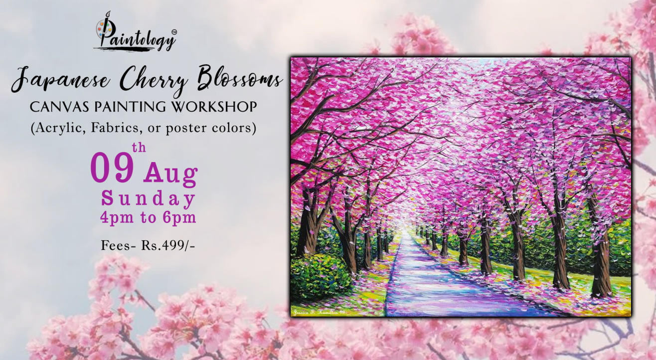 'Japanese Cherry Blossom' Painting workshop by Paintology