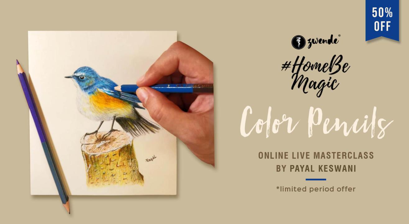 COLOR PENCIL ART ONLINE LIVE MASTERCLASS