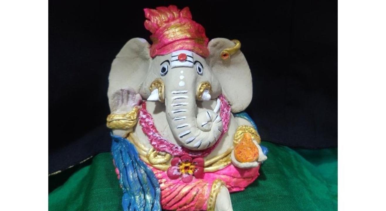 Eco Friendly Ganesha Making