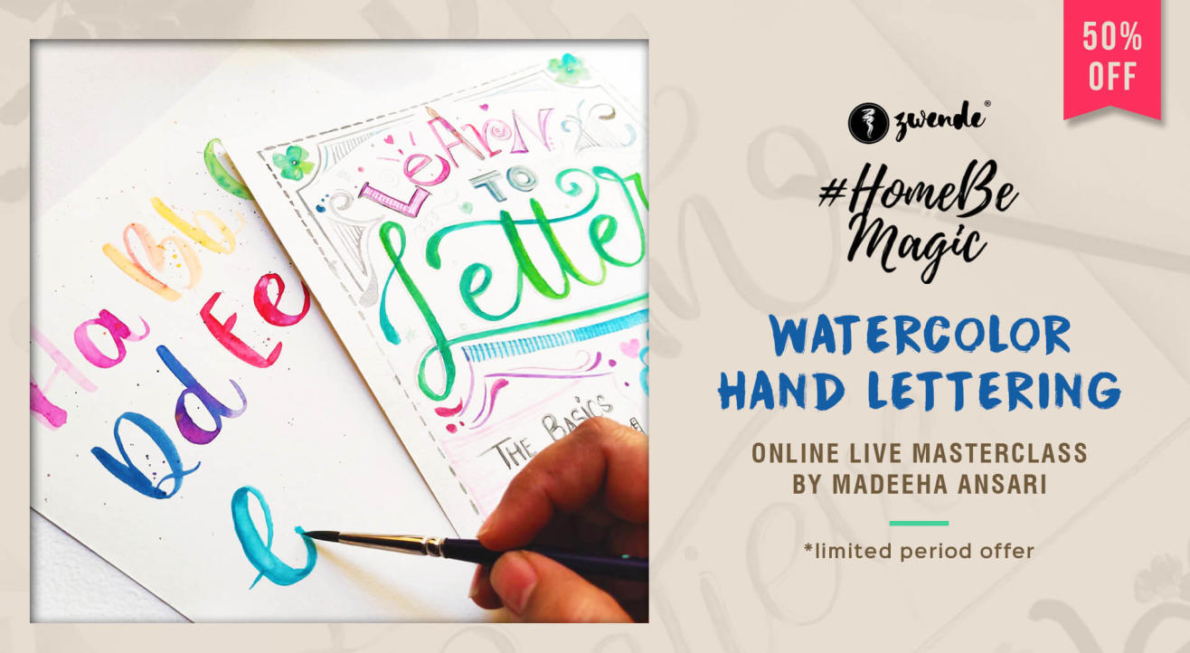 WATERCOLOR HAND LETTERING ONLINE LIVE MASTERCLASS