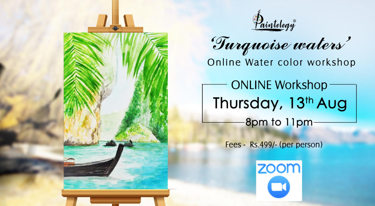 'Turquoise waters' Watercolor painting workshop