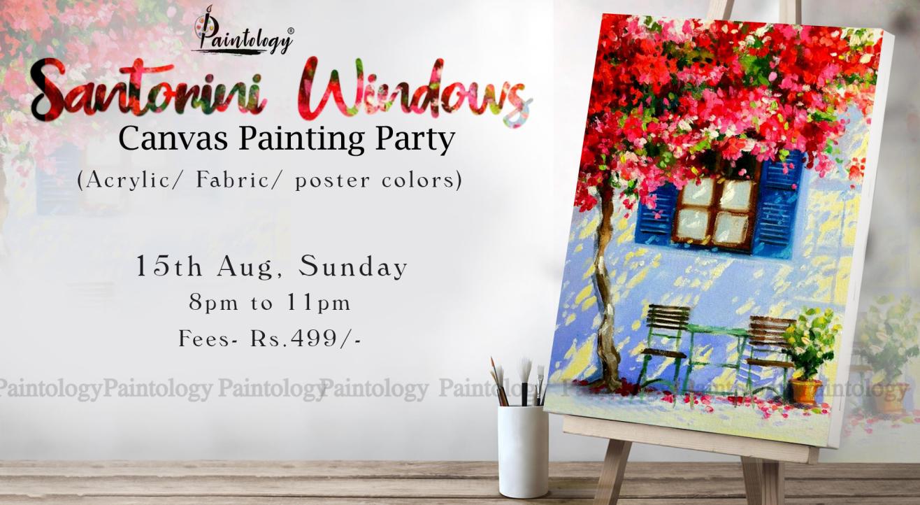 'Santorini Windows' painting workshop by paintology