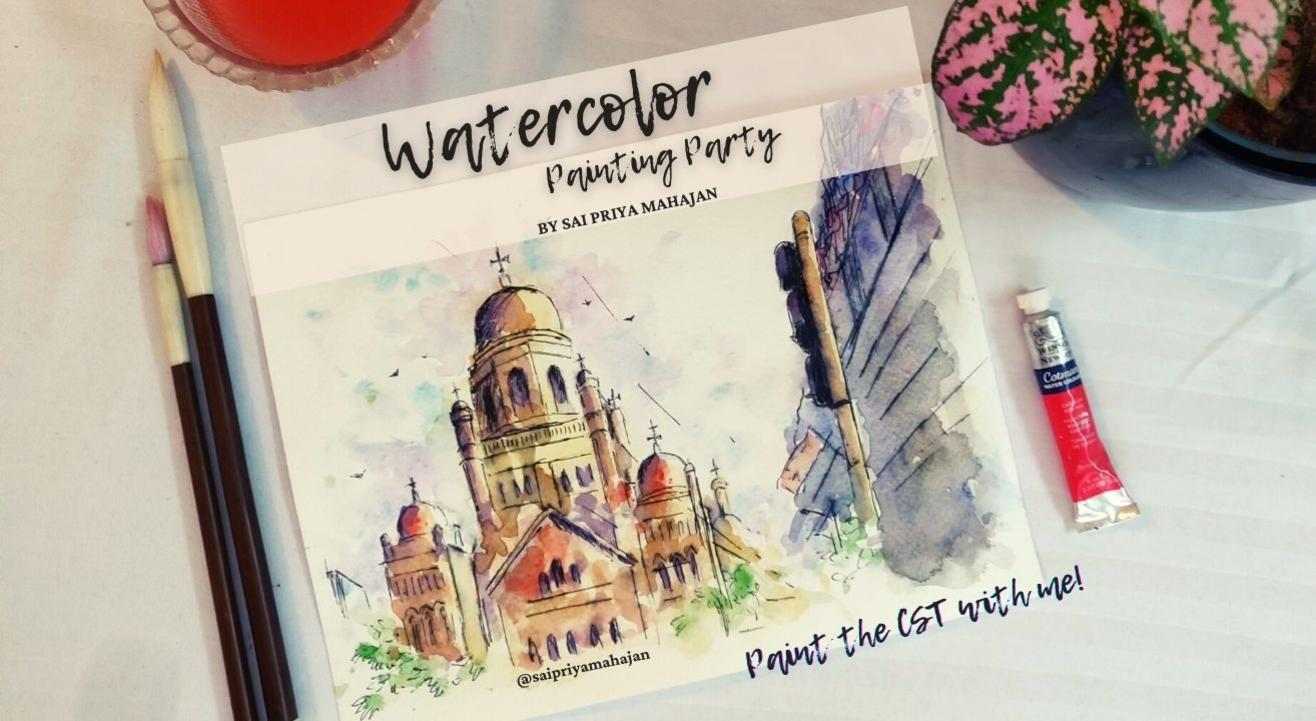 Bombay Nostalgia Watercolor Painting Party