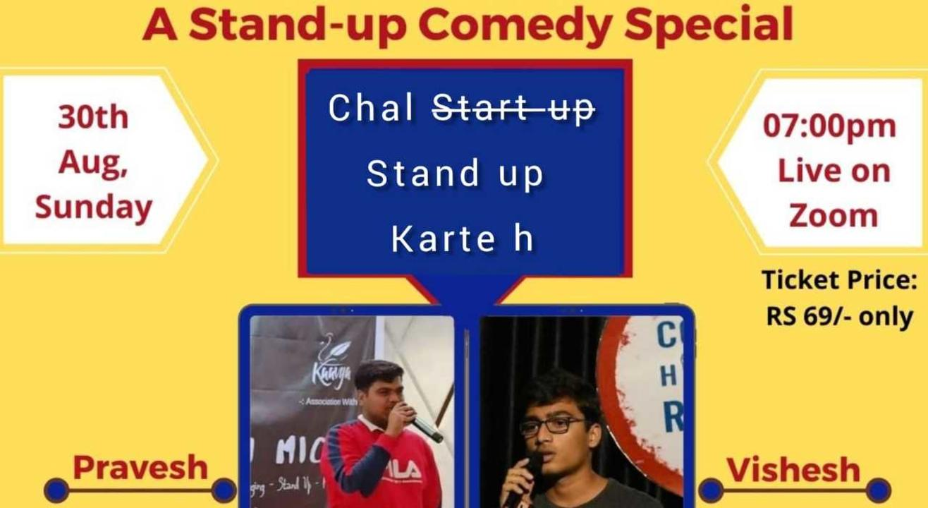 Chal stand up karte h I Trial show by Pravesh & Vishesh I Stand Up Comedy I Lafz Entertainments.