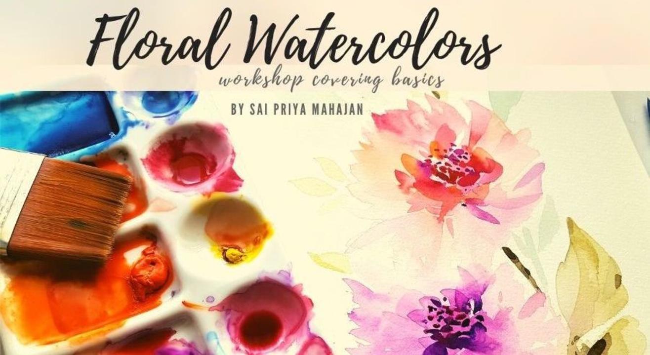 Watercolor Floral Painting Online Workshop with Sai Priya