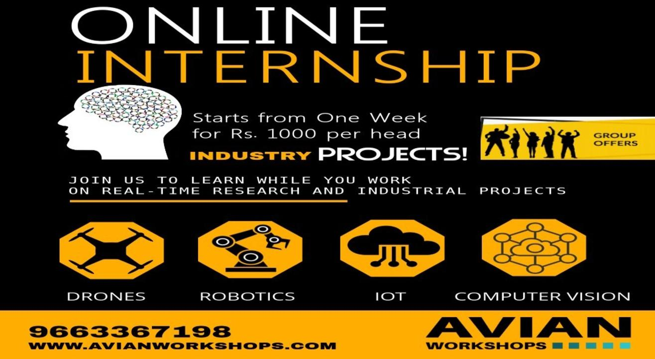 Online Internship Program for Drone/Robotics/IoT/Computer Vision