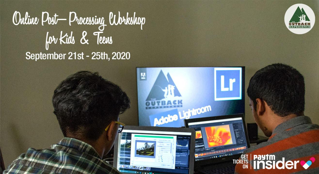 Online Post - Processing Workshop For Kids & Teens
