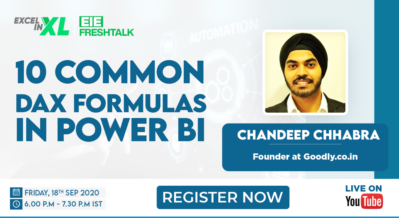 10 Common DAX Problems & Solutions in Power BI by Chandeep Chhabra   #EiEFreshTalk by Excel in Excel