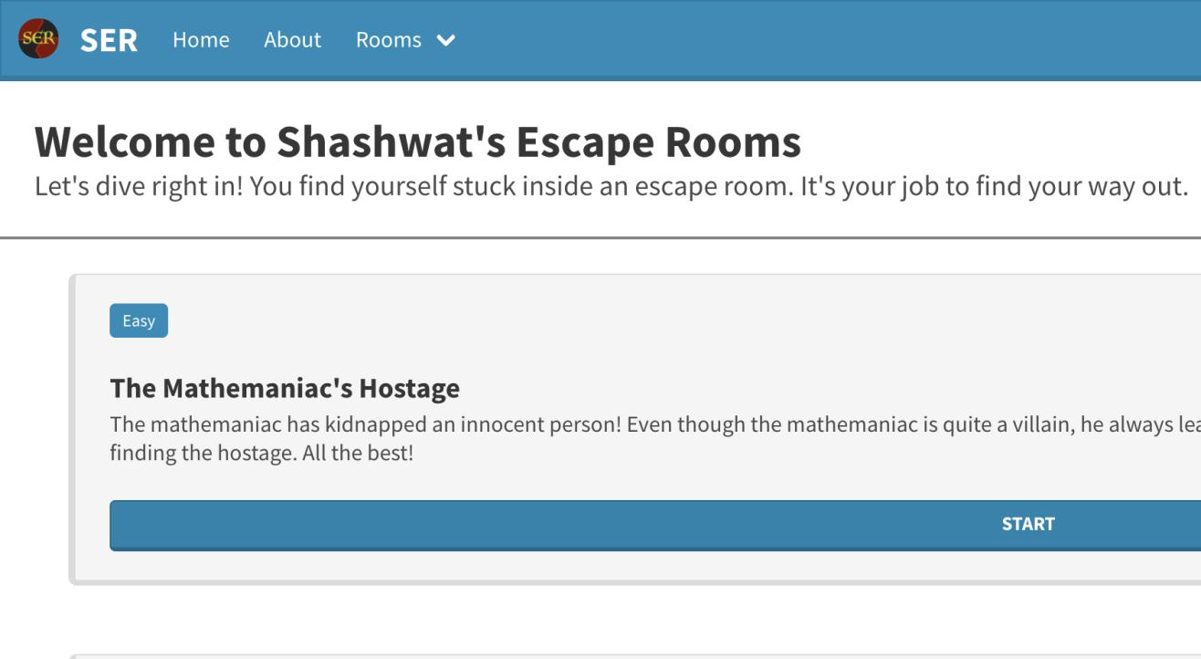 Shashwat's Escape Rooms