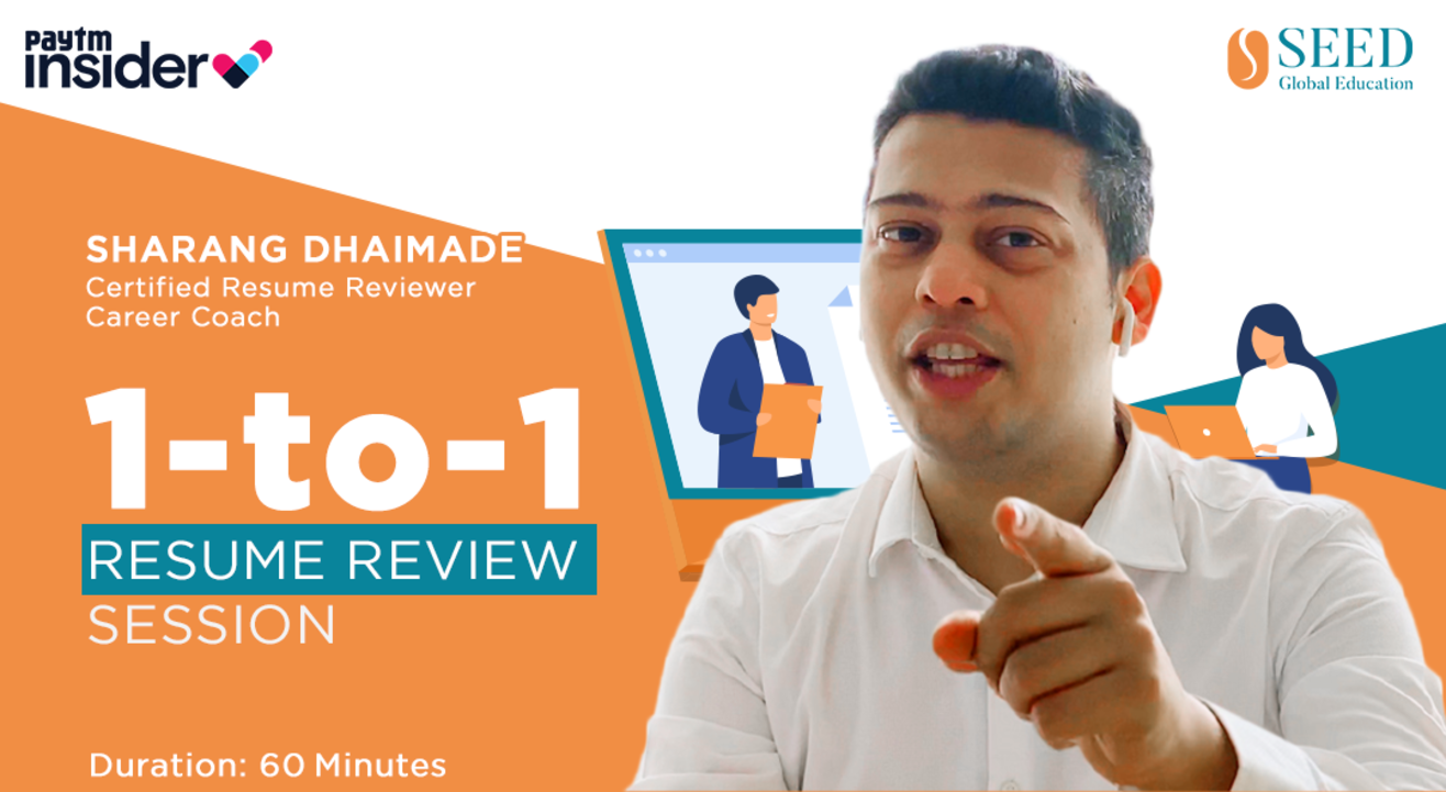 1-to-1 Resume Review by Sharang Dhaimade