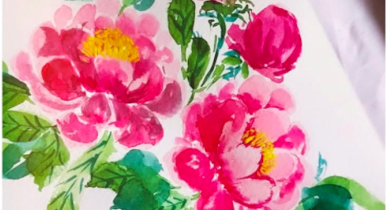 Advanced Watercolor Florals with Sheena