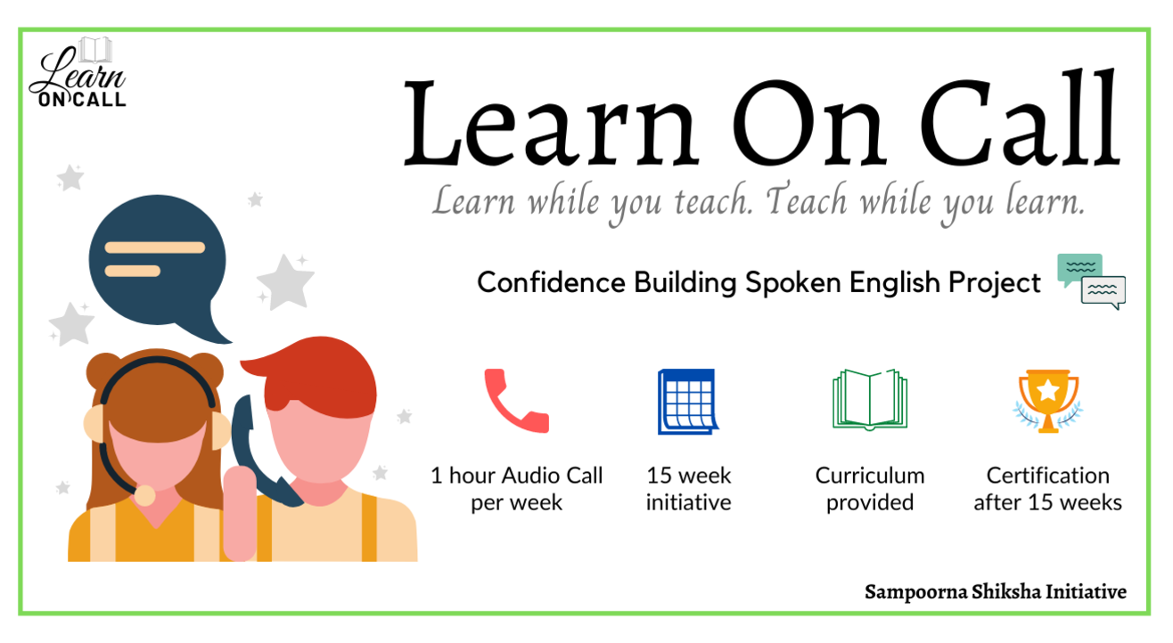 Teach students spoken English on call