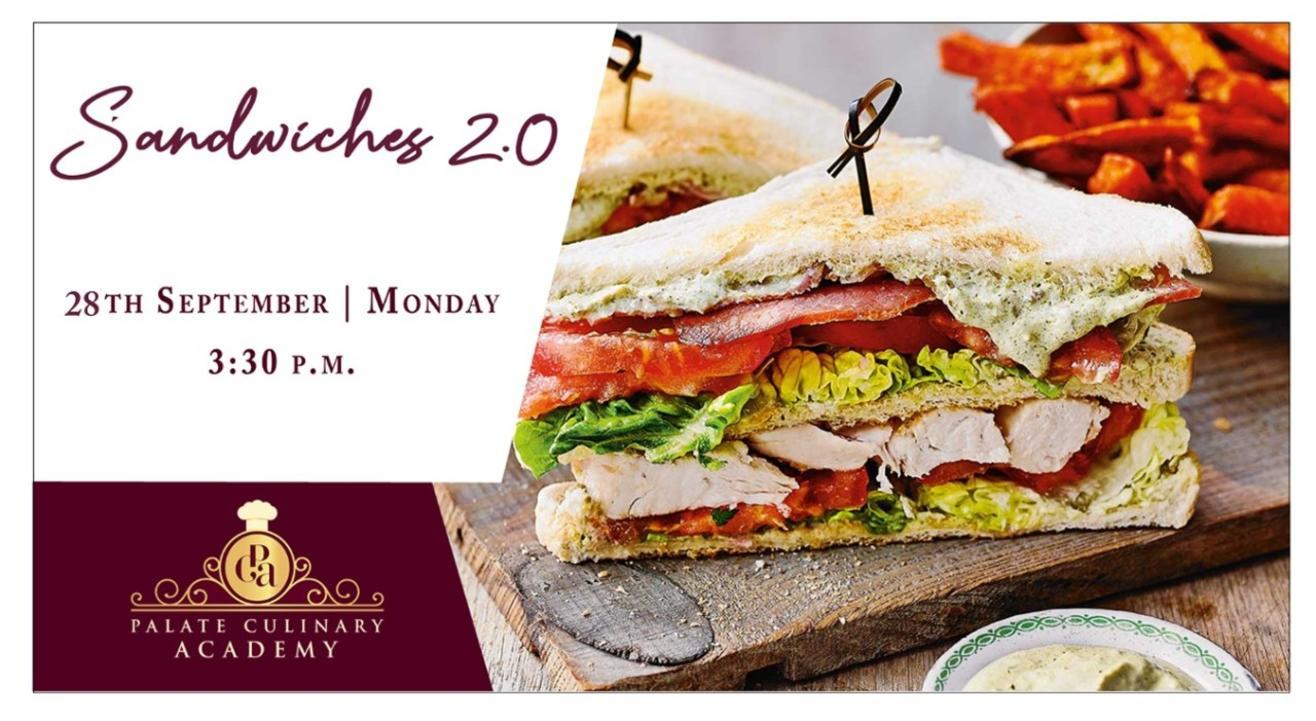 Sandwiches  2.0 with  Rakhee Vaswani