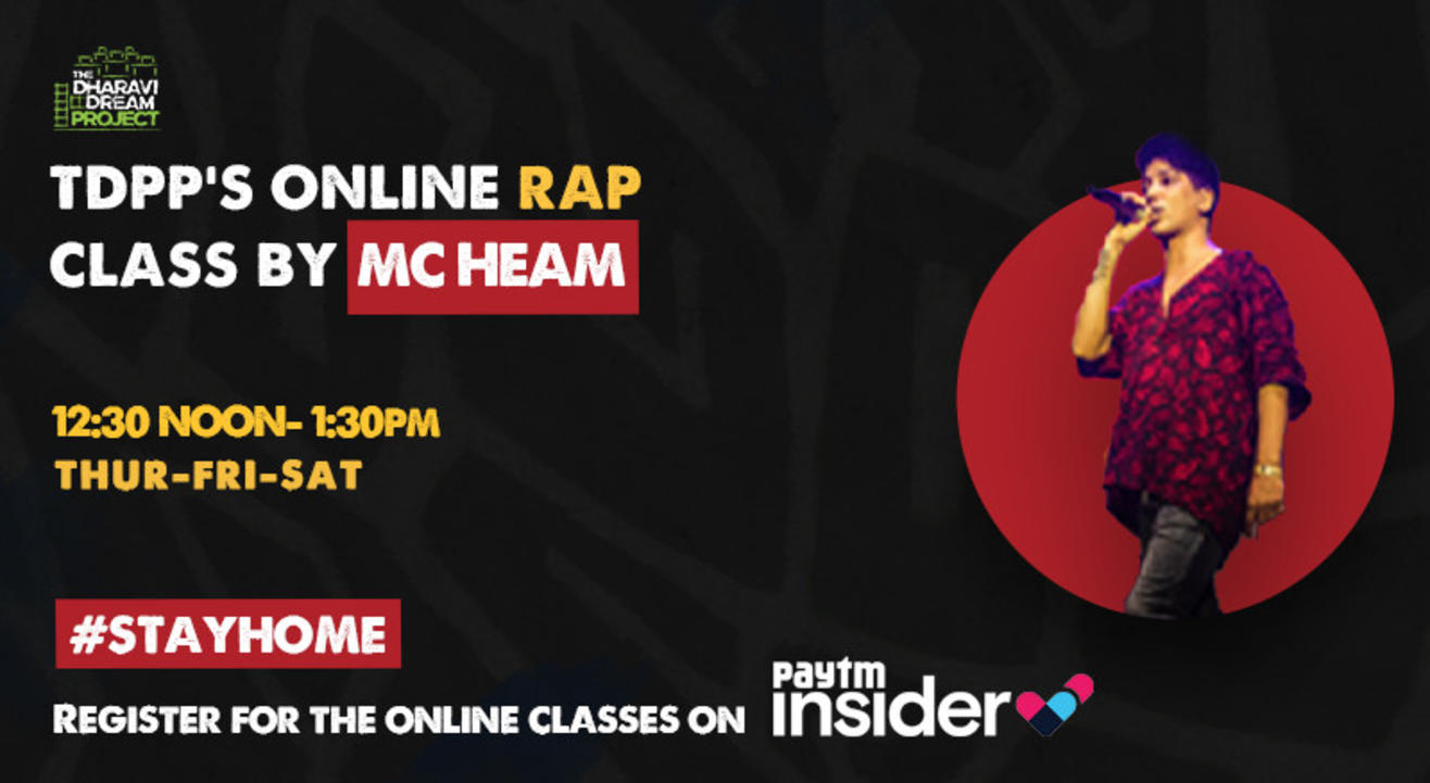 RAP workshop with 'MC Heam' at TDDP's SchoolofHipHop! (sept)