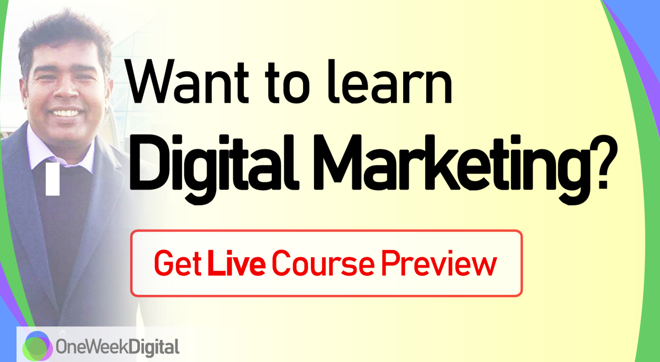 Learn Digital Marketing - Live Course Preview for Beginners