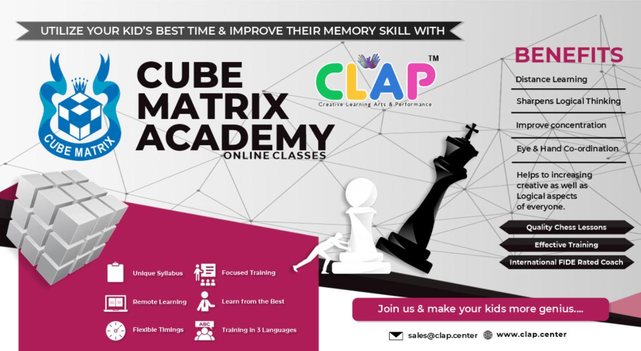CUBE MATRIX ACADEMY -ONLINE CHESS CLASS