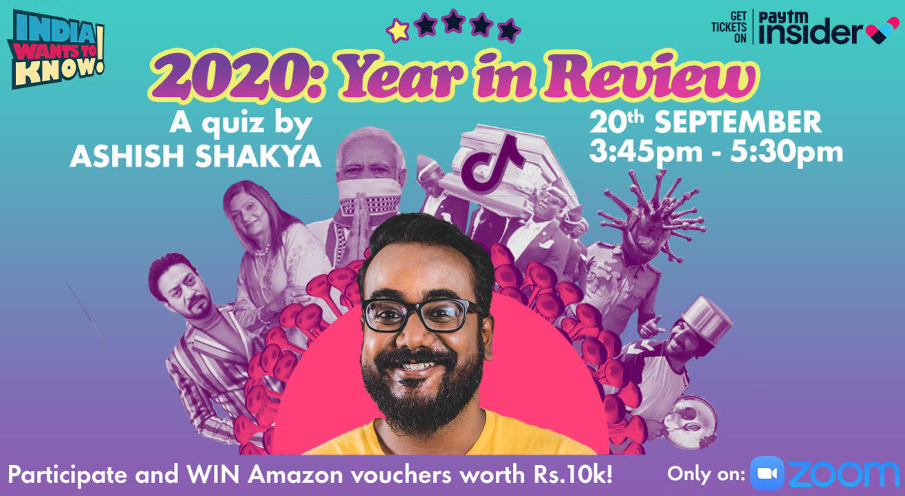 2020 : Year in Review Quiz by Ashish Shakya (Prizes: Rs.10k!)