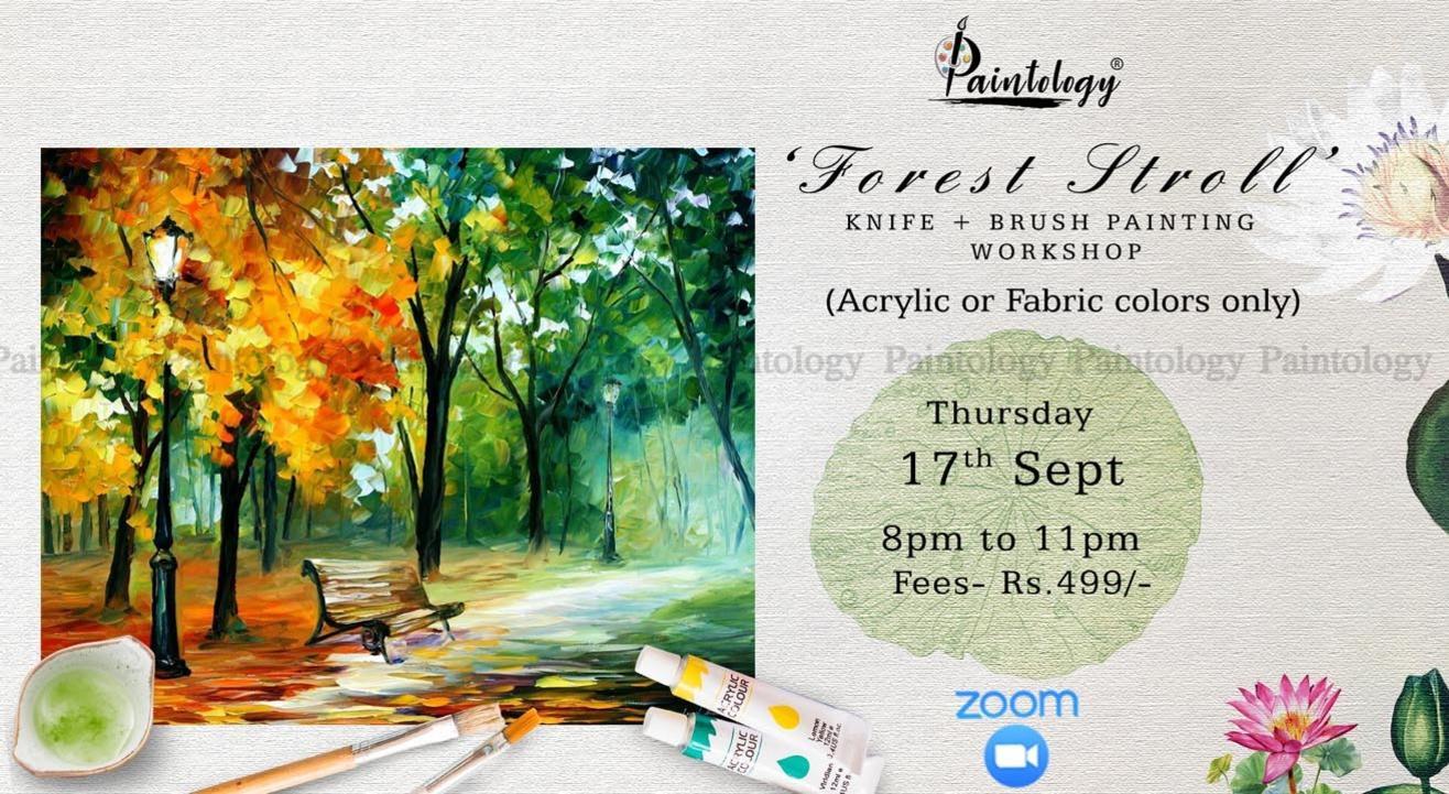 'Forest Stroll' Knife + brush painting workshop